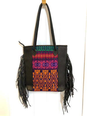 MACCA FRINGE VEGAN LEATHER BAG