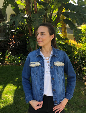 ÑANDUTI DENIM JACKET