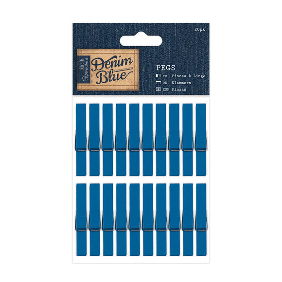 Set 20 mollette - Denim Blue