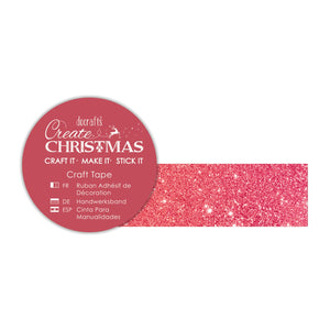 ! Craft Tape - Red Glitter
