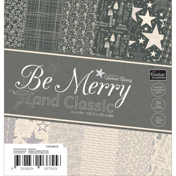 Blocco carta 15x15 cm - Be  Merry and Classic