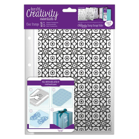A5 Clear Stamp Set - Moroccan Lattice