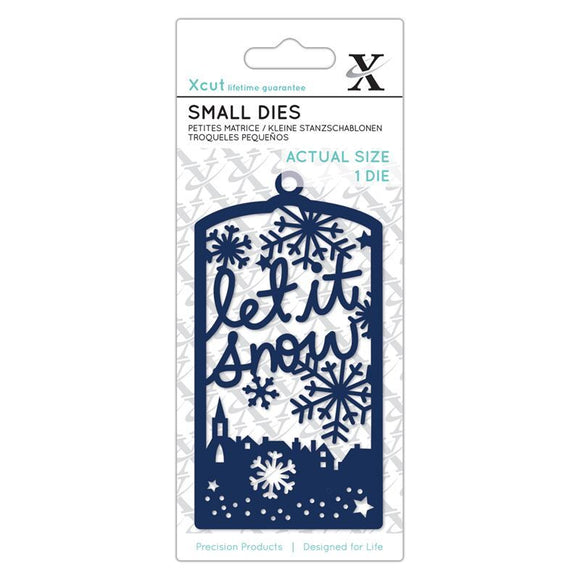Fustelle Small Xcut - Let It Snow Tag