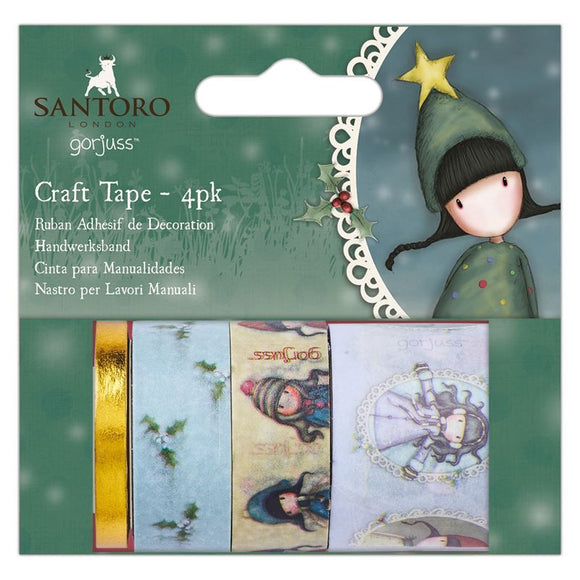 Set 4 Washi Tape - Santoro Gorjuss