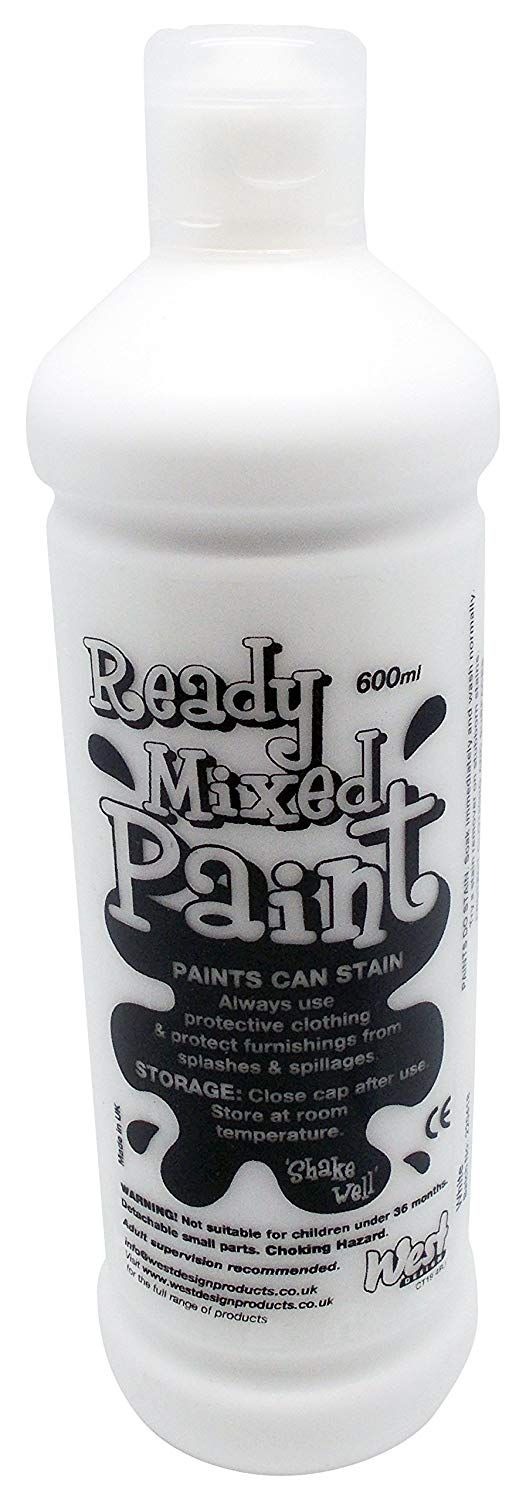 % Ready Mix Paint 600 ml - Bianco