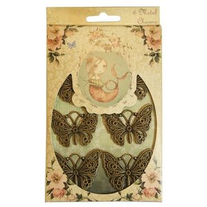 Set 6 charm in metallo - Mirabelle Butterflies