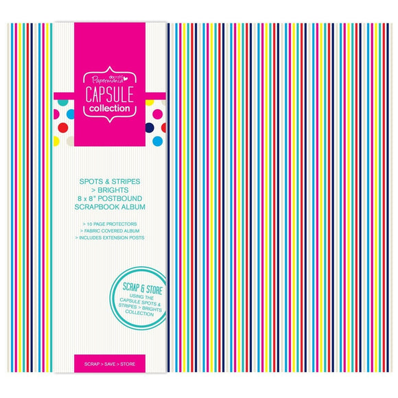 !! Scrapbooking album 20x20 cm - Spots & Stripes Brights