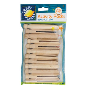 Set 12 Mollette Dolly Pegs - Naturale