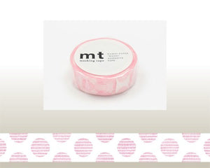 washi tape script dot pink