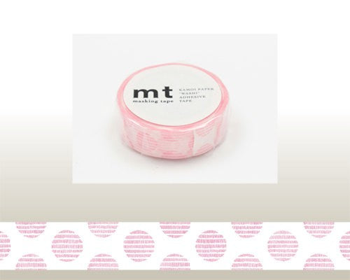 Washi Tape - Dot Script Pink
