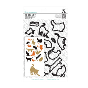 !!! Set fustelle A5 Xcut - Mixed Cats