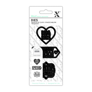 Set fustelle XCut Small - Mr & Mrs