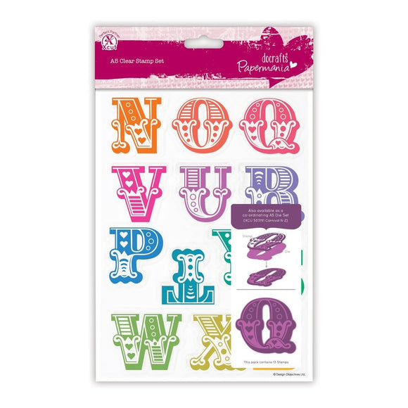 A5 Clear Stamps - Carnival Alphabet N-Z