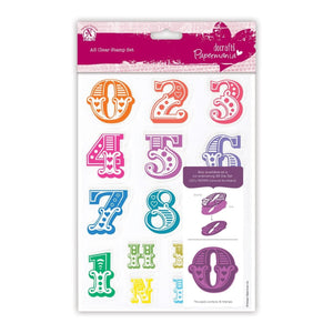 A5 Clear Stamps - Carnival Numbers