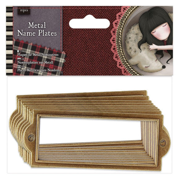 Metal Name Plates (6pcs) - Santoro Tweed