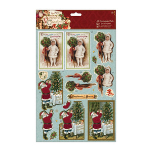 "$ A4 Decoupage Pack - Victorian Christmas ""Holly"""