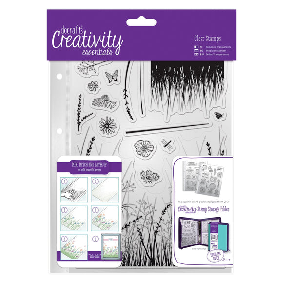 A5 Clear Stamp Set - Meadow