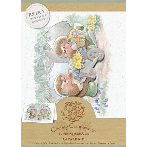 FUORI TUTTO - A4 Decoupage Card Kit - Country Companions
