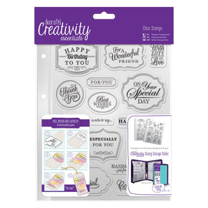 A5 Clear Stamp Set - Trad Sentiment