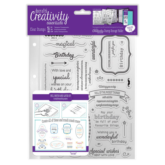 A5 Clear Stamp Set - Birthday Verses