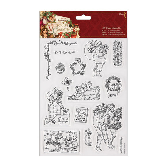 A5 Clear Stamps Set (15pcs) - Victorian Christmas