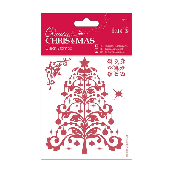 $ 106 x 127mm Mini Clear Stamp - Christmas Tree