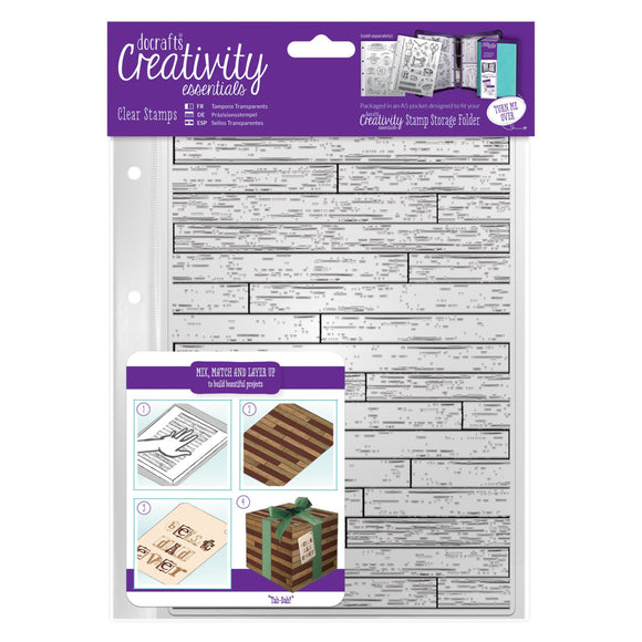 A5 Clear Stamp - Wooden Boards Background