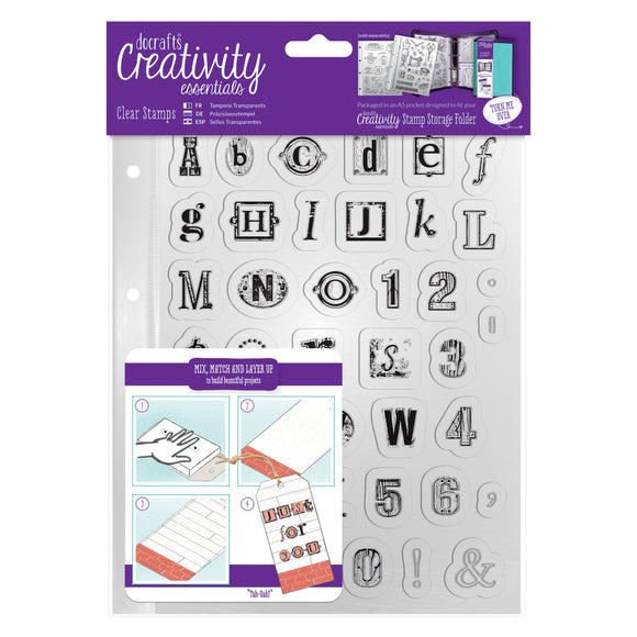 A5 Clear Stamp Set - Alphabet