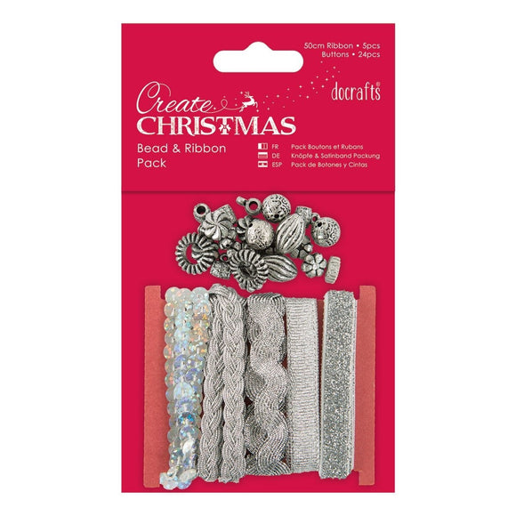 Bead and Ribbon Pack - Silver