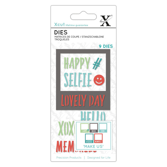 Set Fustelle Xcut Small - Selfie Frame & Sentiments