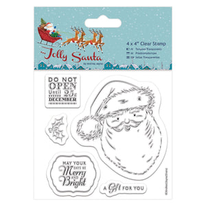 "Mini Clear Stamp - Jolly Santa ""Santa"""