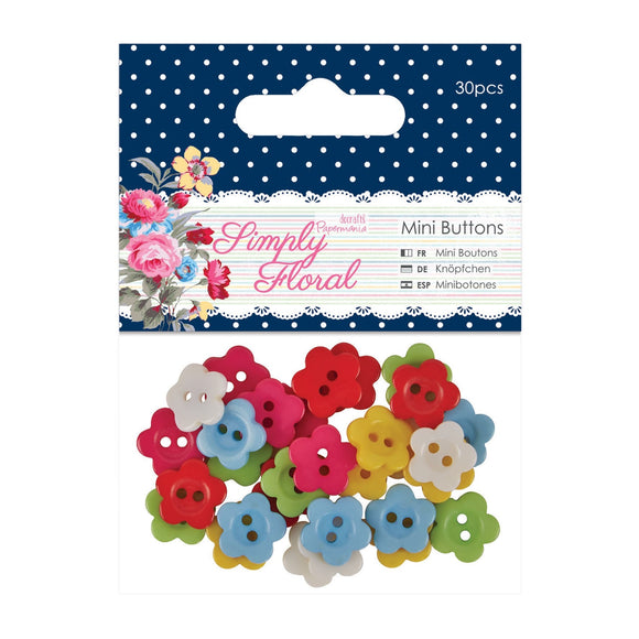 Set 30 bottoni - Simply Floral