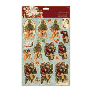 "! A4 Decoupage Pack - Victorian Christmas ""Trees"""