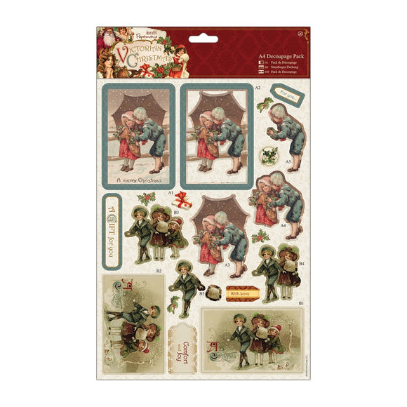 A4 Decoupage Pack - Victorian Christmas