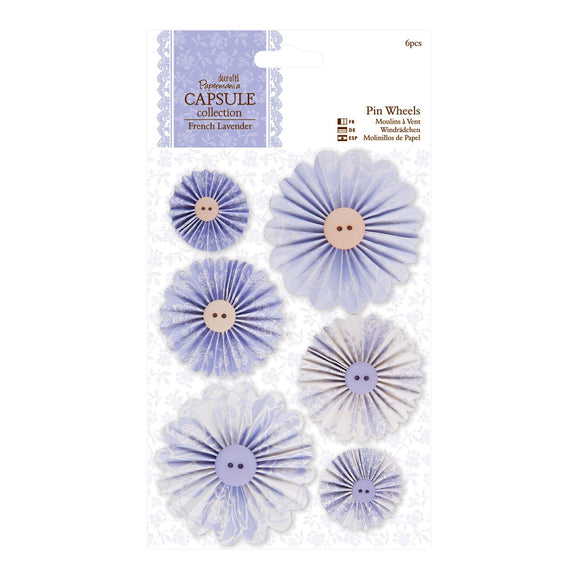 Pin Wheels - French Lavender
