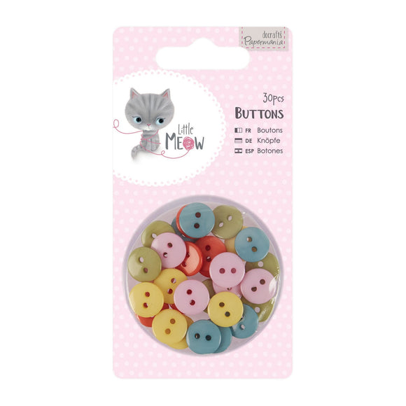 Set 30 mini bottoni - Little Meow