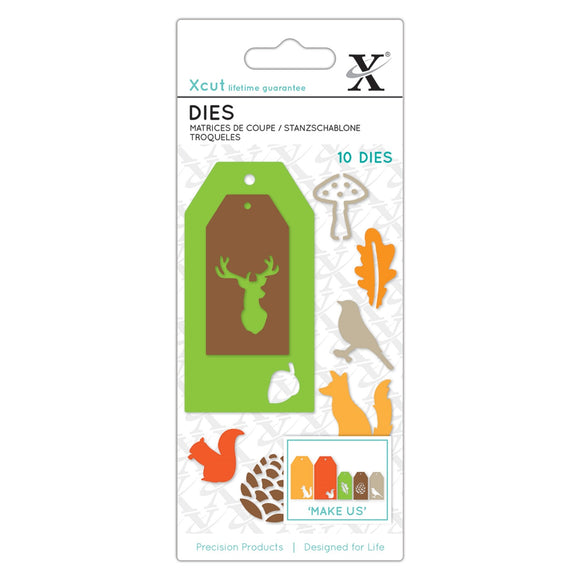 !! Set Fustelle Xcut Small - Woodland Gift Tags