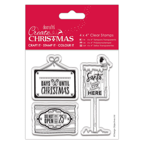 Clear Stamps - Christmas Signs