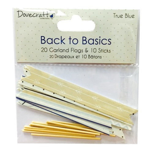 ! Back to Basics - True Blue Garland Flags