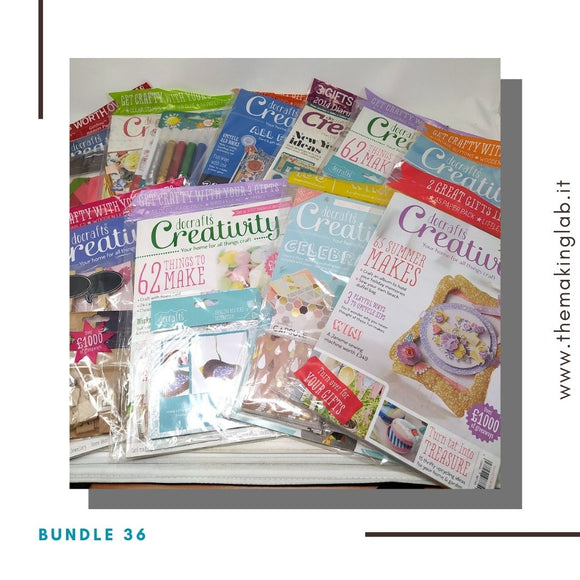 Bundle 36 - Creativity Magazine (10 riviste con omaggi)