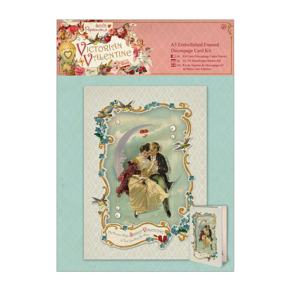 A5 Decoupage Card Kit - Victorian Valentine