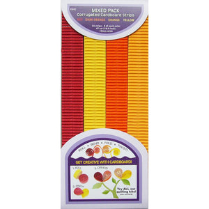 Strisce ondulate per quilling - Red, Orange & Yellow