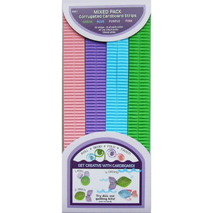 Strisce ondulate per quilling - Blue, Green & Purple
