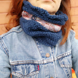 BECAUSE THE NIGHT - Scaldacollo in lana merino - Merino Wool Neck Warmer Cowl