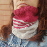 Scaldacollo in alpaca e lana - cowl handmade wool christmas present knit neck warmer