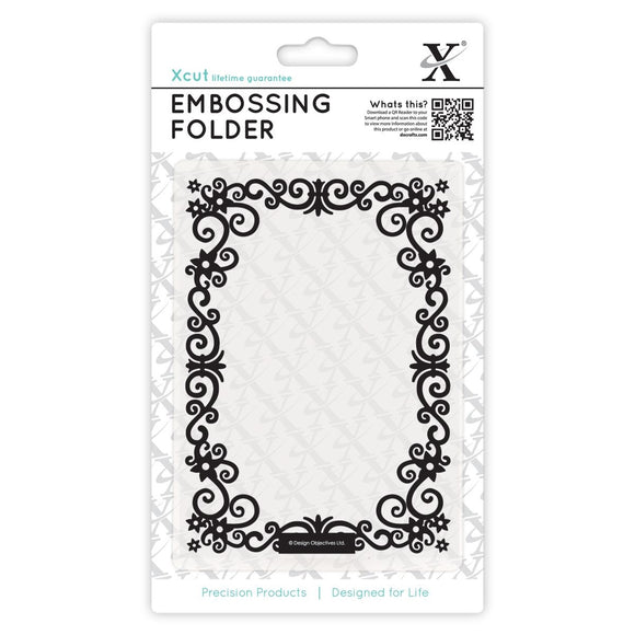 Fustella A6 per embossing - Floral Frame