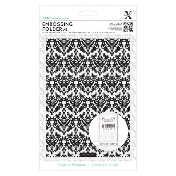 Fustella per embossing A5 - Damask Background
