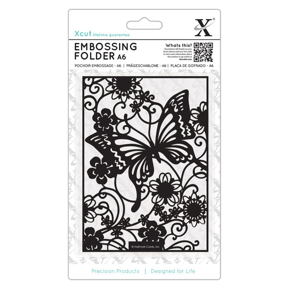 Fustella per embossing A6 - Butterfly Meadow