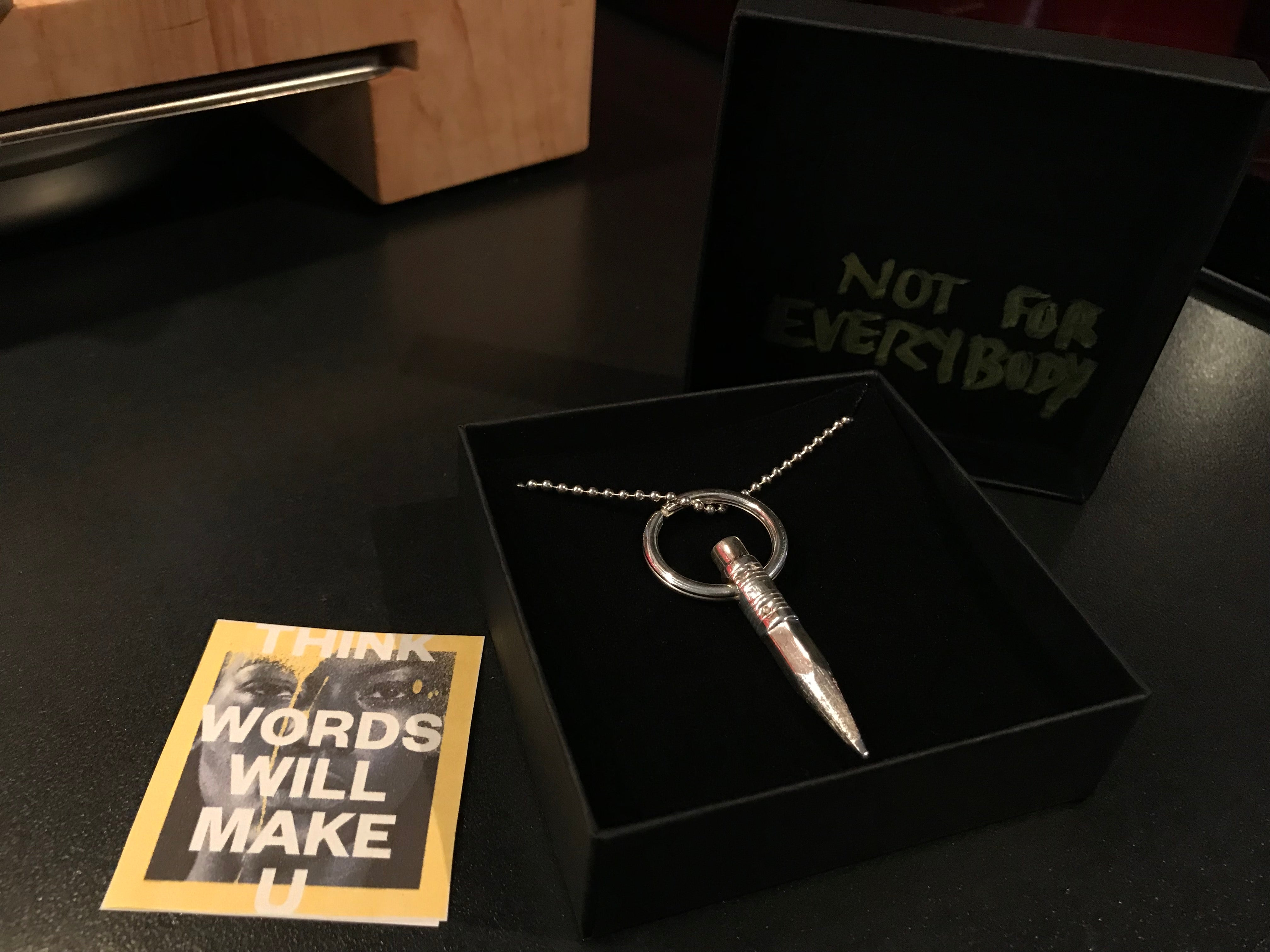 Words longchain necklace