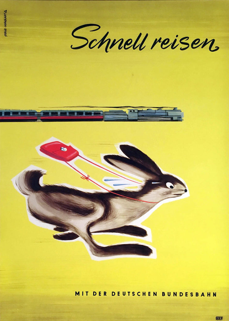 Schnell Reisen (1960s) - Original and Authentic Vintage Poster